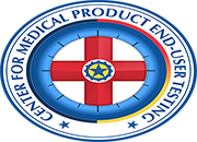 The logo for the Pittsburgh VA's Patient Safety Center of Inquiry; the Center for Medical Product End-user Testing (CMPET).